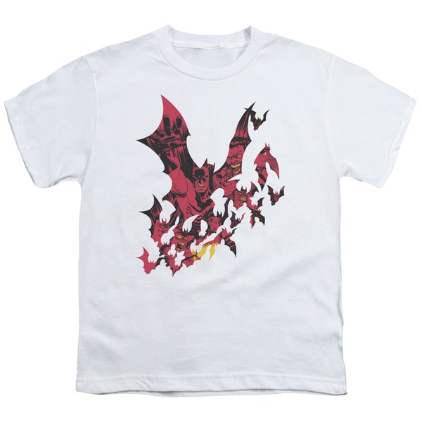 Batman/Broken City Short Sleeve Youth 18/1 in White