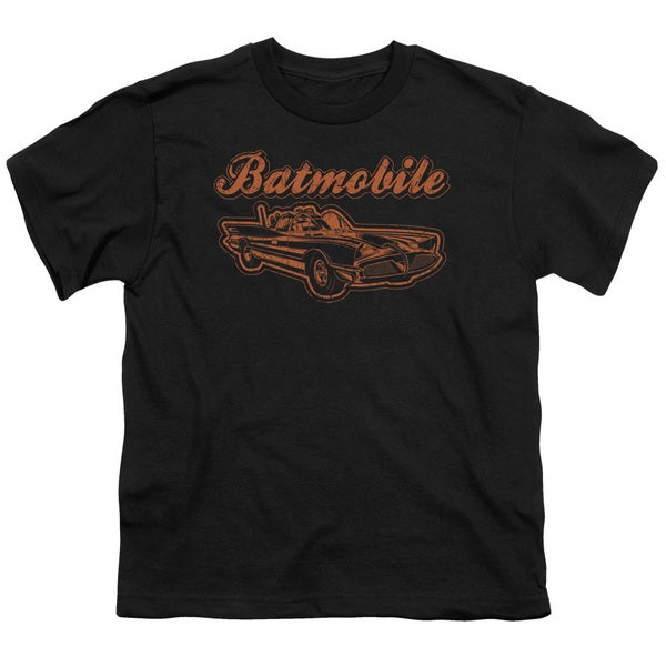 Batman/Batmobile Short Sleeve Youth 18/1 in Black
