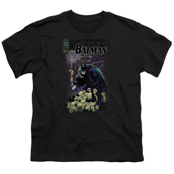 Batman/Cover #516 Short Sleeve Youth 18/1 in Black