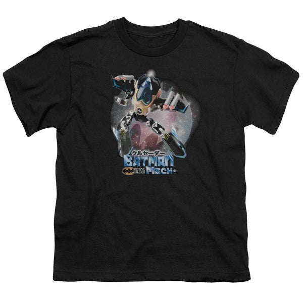 Batman/Batman Mech Short Sleeve Youth 18/1 in Black