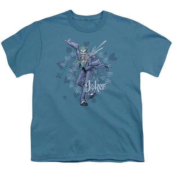 Batman/Acid Spiral Short Sleeve Youth 18/1 in Slate