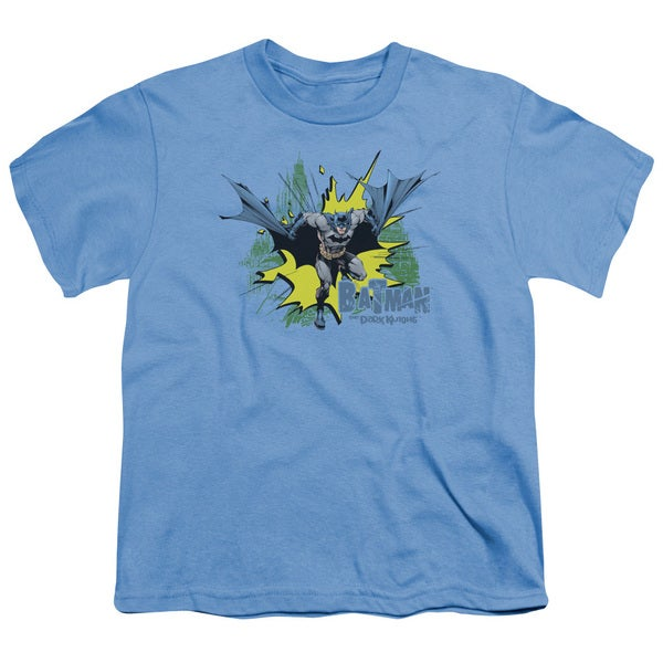 Batman/City Splash Short Sleeve Youth 18/1 Carolina Blue