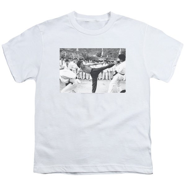 Bruce Lee/Kick To The Head Short Sleeve Youth 18/1 in White