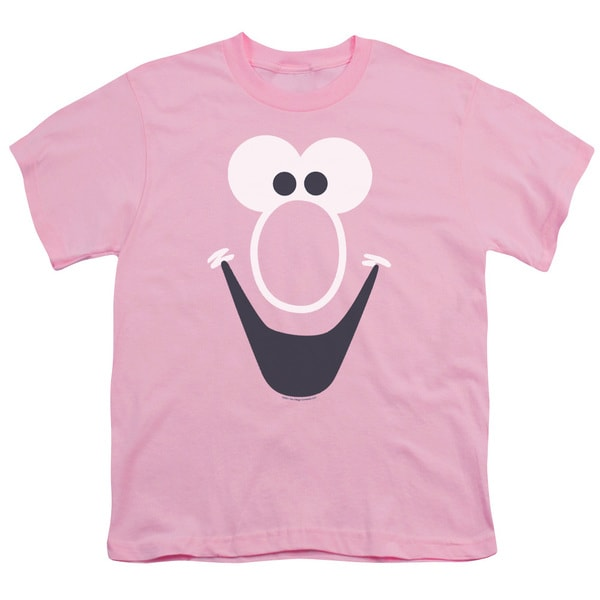 Mr Bubble/Bubble Face Short Sleeve Youth 18/1 Pink