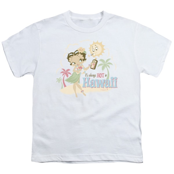 Boop/Hot in Hawaii Short Sleeve Youth 18/1 White