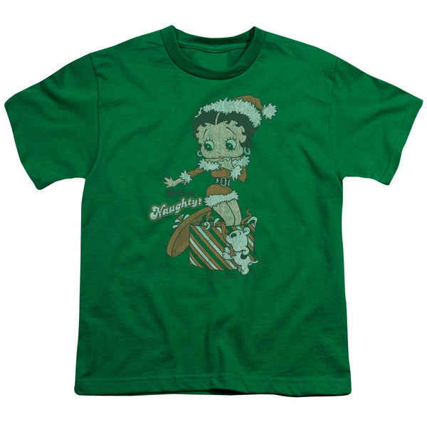 Boop/Define Naughty Short Sleeve Youth 18/1 Kelly Green