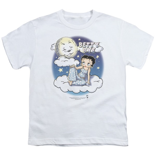 Boop/Betty Bye Short Sleeve Youth 18/1 in White