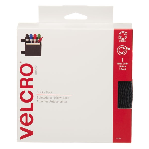 "Velcro 90084 3/4"" X 15' Navy Sticky Back Tape"