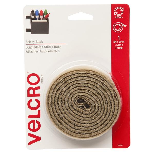 """Velcro 90088 3/4"""" X 5' Beige Sticky Back Tape"""