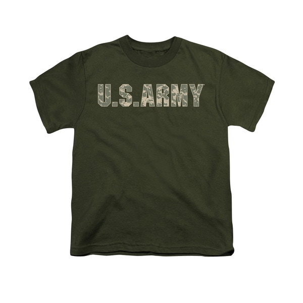 Army/Camo Short Sleeve Youth 18/1 in Military Green