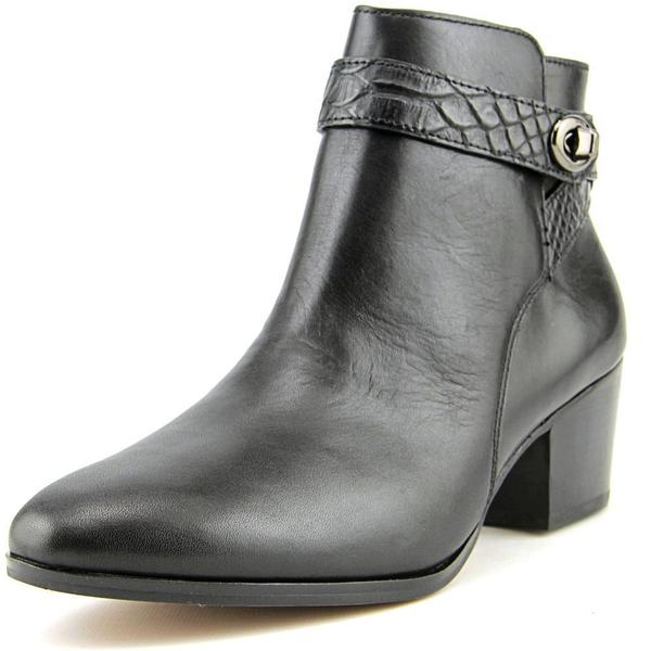 Coach Women's Patricia Black Leather Ankle Boots