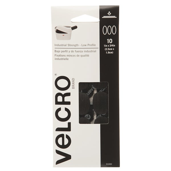 "Velcro 91000 1"" X 3/4"" Black Spots 10-count"