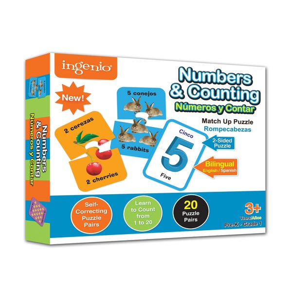 Numbers and Counting Match Up Puzzle
