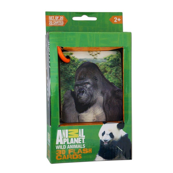 Animal Planet Wild Animals 3D Flash Cards 21160735