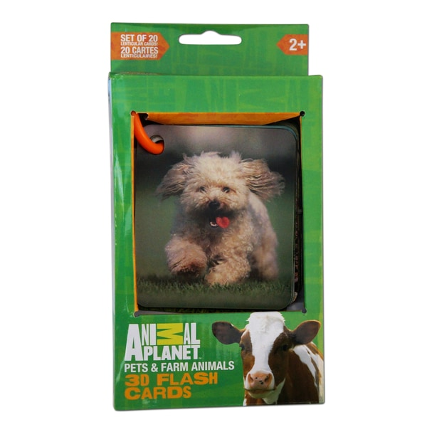 Animal Planet Pets and Farm Animals 3D Flash Cards