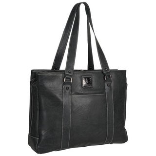 Kenneth Cole Reaction Triple Compartment Pebbled Faux-leather Top-Zip 15-inch Computer Business Tote Bag