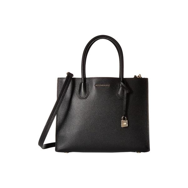 Michael Kors Studio Mercer Black Large Convertible Tote Bag