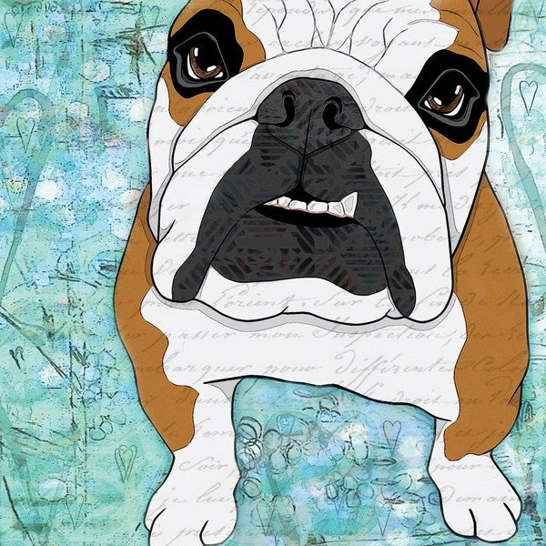 Marmont Hill - 'Bulldog Pop Art' Painting Print on Wrapped Canvas