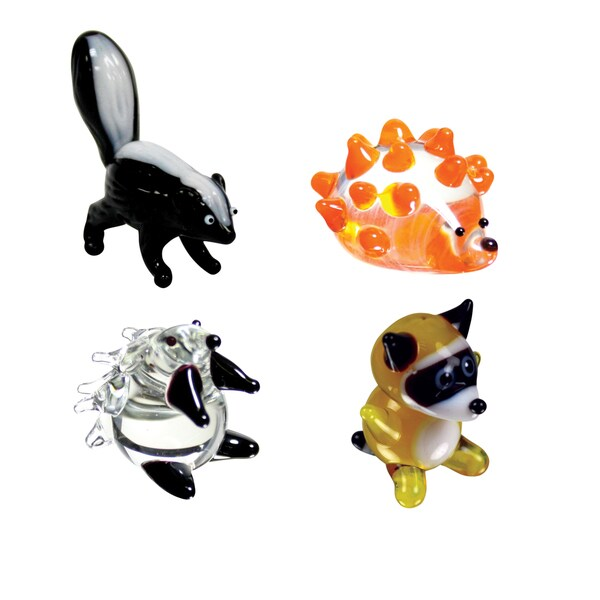Looking Glass 4-Pack Skunk, Hedgehog, Porcupine, Raccoon 21161524
