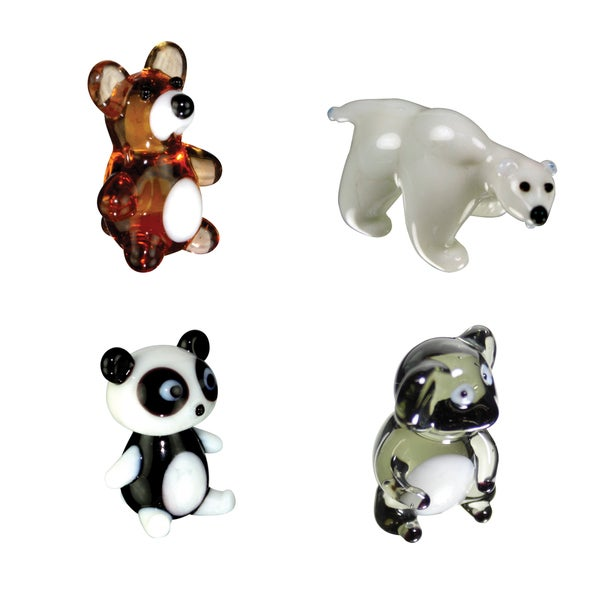 Looking Glass 4 Pack Teddy, Polar Bear, Panda, Koala