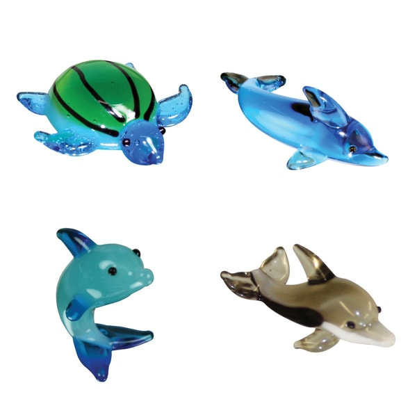 Looking Glass 4-Pack Myrtle SeaTurtle and 3 Dolphins 21161530
