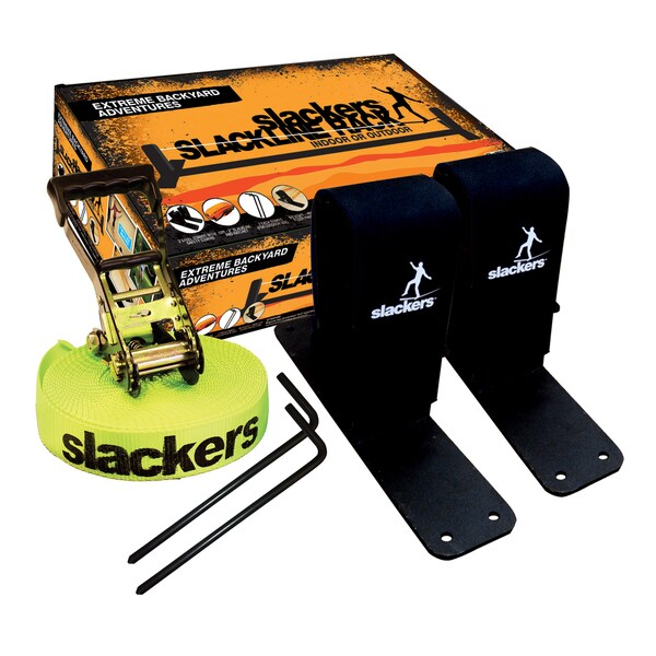 Slackers Slackline Rack With 12-foot Slackline
