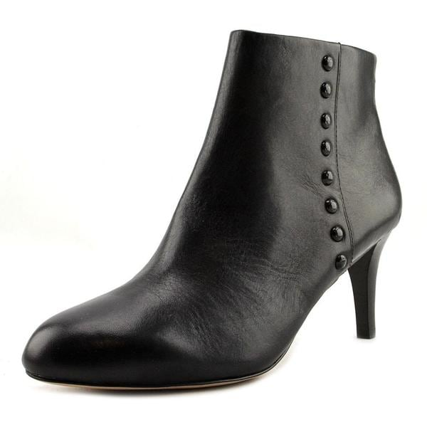 Coach Women's Hickory Calf Black Leather Boots