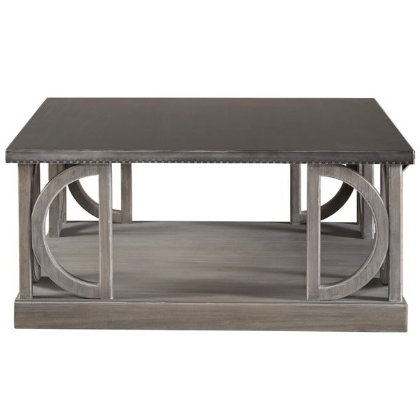 Carlton Grey Wood Cocktail Table