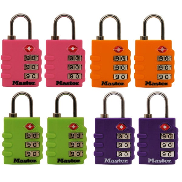 Master Lock 4684T Luggage Locks Assorted Colors 2-count