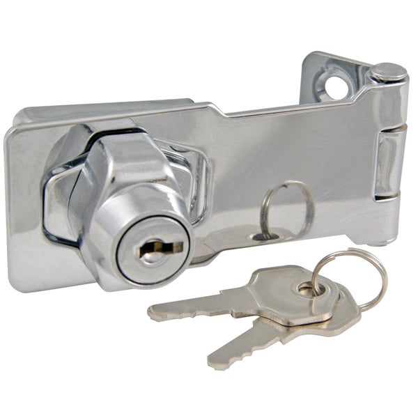 "Ultra Hardware 31800 3"" Chrome Plated lock With Hasp"