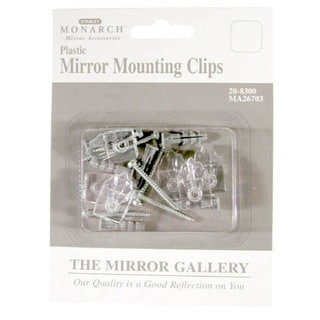 Home Decor 20-8300 6 Pack Plastic Mirror Mounting Clips