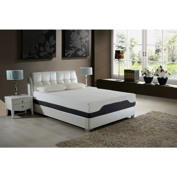 AC Pacific 11.5-inch Queen-size Hybrid Pocket Coil and Gel Memory Foam Mattress