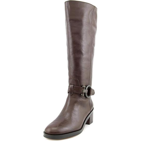 Coach Women's Carolina Brown Leather Wide-calf Boots