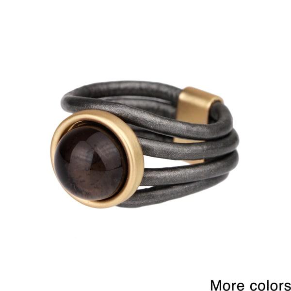 Saachi Faux Stone Leather Ring (China)