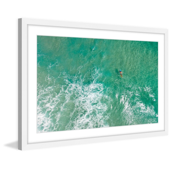 Marmont Hill - 'Waiting for the Wave' by Karolis Janulis Framed Painting Print