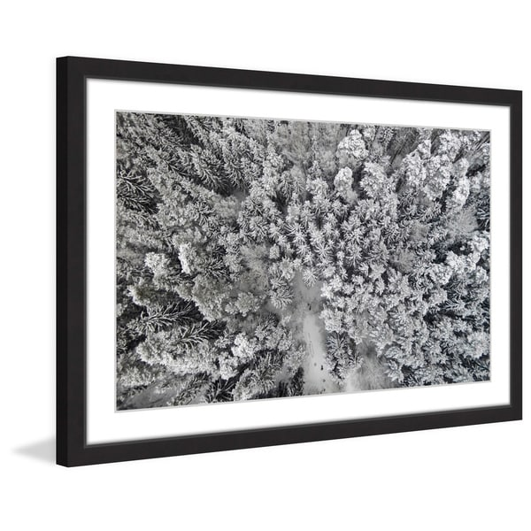 Marmont Hill - 'Frozen Friends' by Karolis Janulis Framed Painting Print