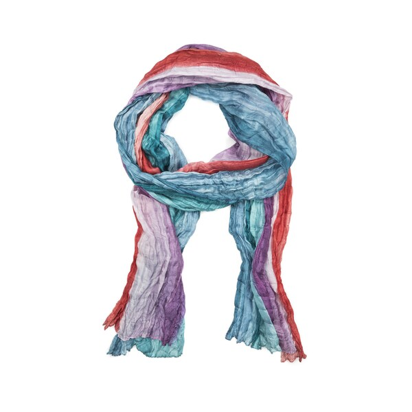 Shibori Silk Scarf - Sherbert