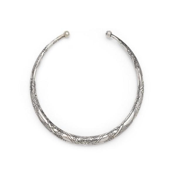 Selene Collar Necklace - Silver