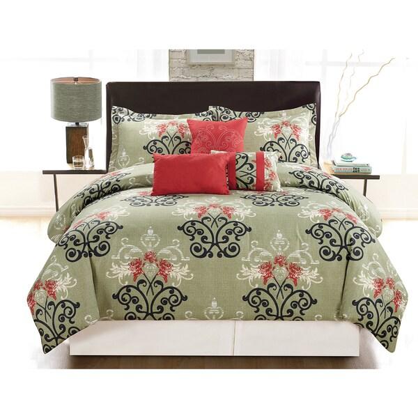 Paula 6-Piece Vibrant Printed Comforter Set