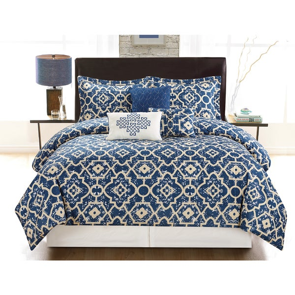 Marble 6-Piece Vibrant Printed Comforter Set