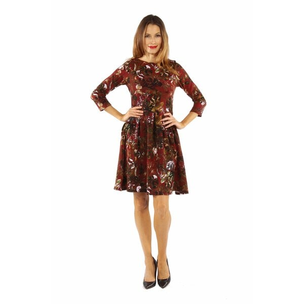 Dazzling Floral Midi Dress