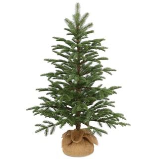 National Tree Company 3' Norwegian Small Decorative Seedling Christmas Tree in Burlap