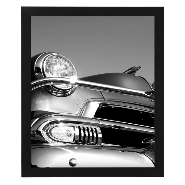Black MDF/Glass 18-inch x 24-inch Picture Frame for Vertical or Horizontal Display