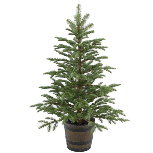 Faux Wood 4-foot Norwegian Spruce Entrance Tree