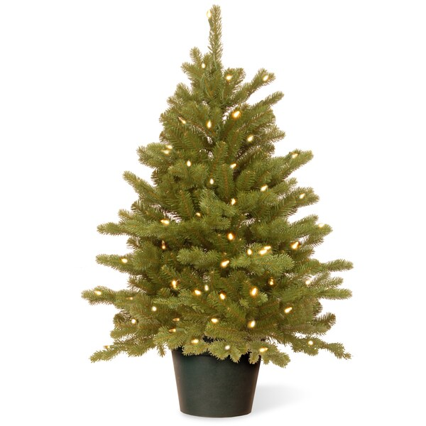 Hampton Spruce Green Holiday Tree with Clear LED Lights