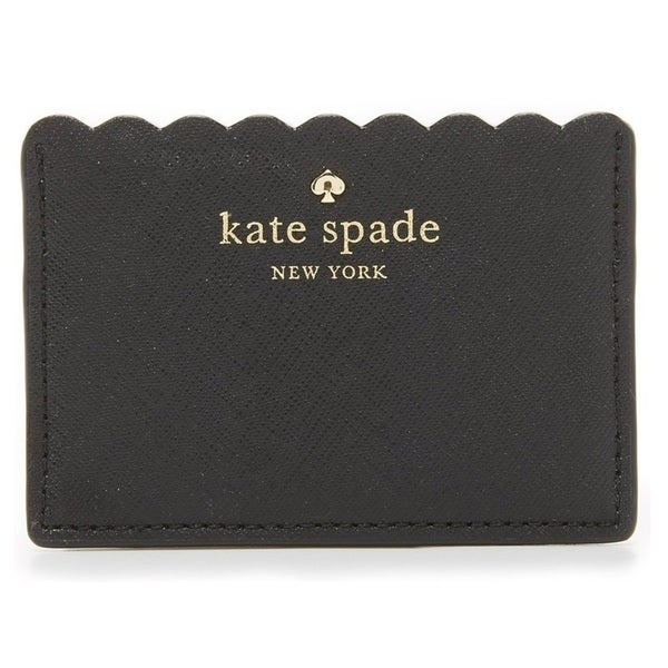 Kate Spade New York Cape Drive Black/Bright White Credit Card Holder