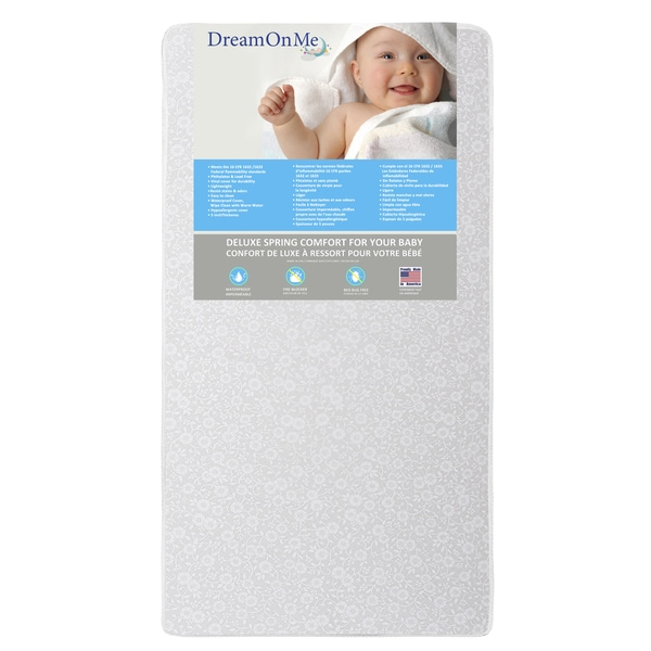 Dream On Me Little Baby 6-inch Firm Foam Crib and Toddler Bed Mattress