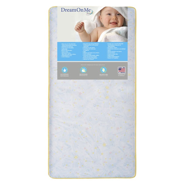 Dream On Me Stars Light 202 Coil Crib and Toddler Mattress