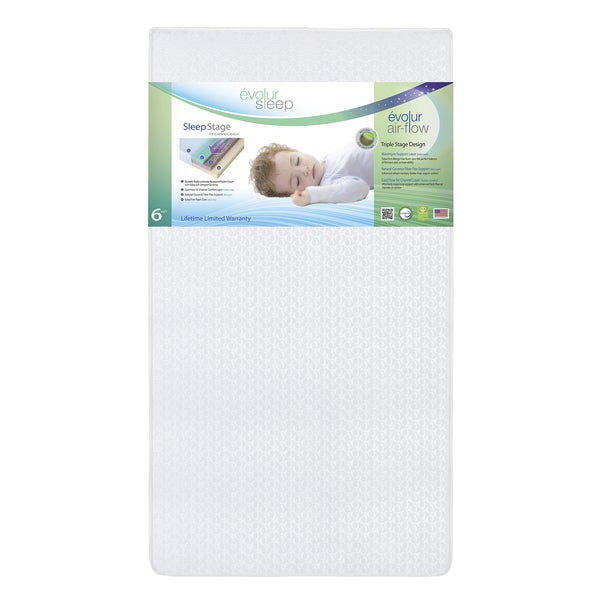 Evolur Sleep Triple Stage Air Flow with Natural Coconut Fiber Crib Mattress