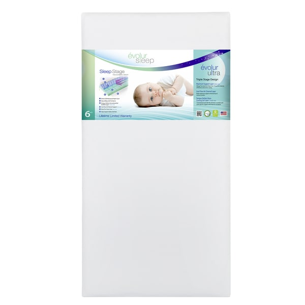 Evolur Sleep Triple Stage Ultra Crib Mattress